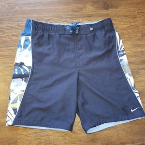 Nike Athletic Blue Swim Trunks